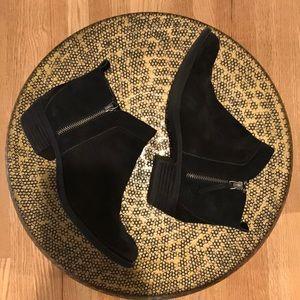 Vince Camuto Black Boots Zipper Detail - Size 8.5